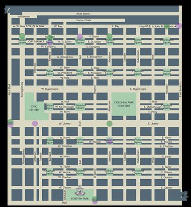 Savannah Heritage Tours | Map of Savannah, Savannah Tour Guides on map of savannah college of art and design, map of savannah ga and surrounding area, map of savannah national wildlife refuge, map of charleston sc historic district, map of downtown savannah, map of savannah airport, map of historic savannah ga,